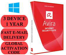 Avira Internet Security Suite 3 DEVICE 1 YEAR GLOBAL CODE 2018 E-MAIL ONLY