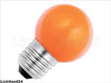E27 - 1,5 Watt LED Color Ball bunte Tropfenlampe ORANGE verglb. 15W Glühlampe