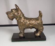 Vintage Scottie Terrier Dog Metal Sculpture