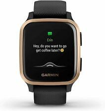 GARMIN VENU SQ MUSIC EDITION SMART WATCH GPS SMARTWATCH BLACK/ROSE GOLD BEZEL