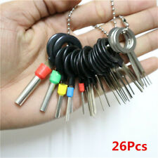 26Pcs Car Terminal Removal Electrical Wiring Crimp Connector Pin Extractor Kit