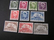 Greenland, Scott # 28-33(6)+35-38(4), 1950-60 Frederick + Polar Shipissue Used