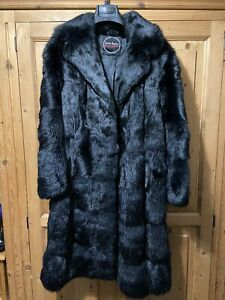 Swears and Wells Black  Fur Coat Size 10 ?