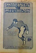 November 10, 1923 Marines vs Michigan Football Program - FULL PROGRAM