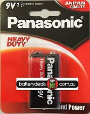 1 Panasonic Heavy Duty Batteries 9V 6F22DP Smoke alarms and similar Zinc Carbon
