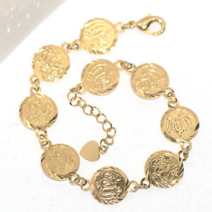 Vintage Coin Link Chain Bracelet For Womens Ladies Gold jewelry turkey fashion