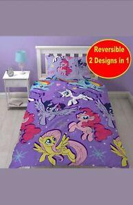 Neu My Little Pony Einzelbett Bettwäsche Set Mädchen Kids Lila Schlafzimmer Gift