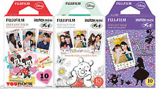 30 Fuji Instax Mini Film Disney Mickey / Pooh & Alice in Wonderland Mini 25/50s
