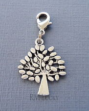 Dangle Tree of Life Clip On Charm lobster claw Fits Link Chain, locket C227