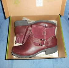 EARTH ORIGINS  LEATHER &  SUEDE   ANKLE BOOTS  11 WIDE   PARIS / BUCKLE  WOMEN'S