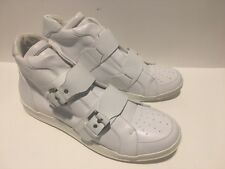 Dsquared2 Men's 11 Buckle High Top Leather Sneakers WHITE Reg $785