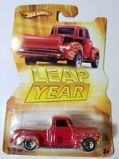 Hot Wheels '52 Chevy Truck Red 2008 Leap Year New on Card