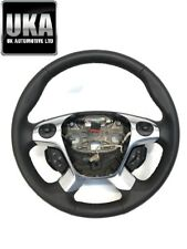 FORD TRANSIT CUSTOM LIMITED MULTI FUNCTION LEATHER STEERING WHEEL FOUR SPOKE