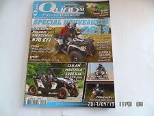 QUAD PASSION MAGAZINE N°158 08/2013 POLARIS SPORTSMAN 570 EFI CFMOTO ZFORCE  I76