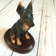 Doberman pinscher Dog Collectible Figure black brown (Cl)