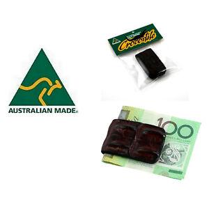 Money Clip Note Wallet Genuine Crocodile Leather Skin Australia Made Men Bifold