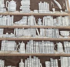 Fornasetti libreria marrone tessuto in cotone fuori produzione