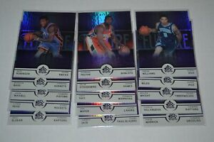LOT OF 15 2005-06 REFLECTIONS PURPLE ROOKIE PARALLELS #/250 DERON WILLIAMS