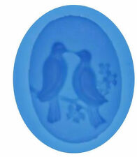 Love Birds Dove Silicone Mold for Fondant, Gum Paste, Chocolate, Crafts