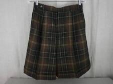 VTG Wool Shorts Womens 10 Brown Plaid Lined Cuffed Carroll Reed