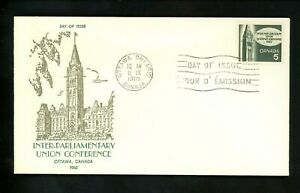 Postal History Canada #441 FDC Unknown Parliament Conference 1965 Ottawa ON