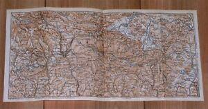 1925 VINTAGE MAP OF RIESENGEBIRGE SUDETEN HIRSCHBERG SILESIA POLAND GERMANY