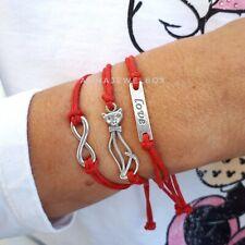 3x Cat Love Infinity Beach Friendship Bracelet Sea Boho Summer Jewellery Gift UK
