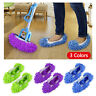 2Pcs Mop Slippers Lazy Floor Foot Socks Shoes Quick Cleaning Polishing Dust - US