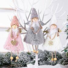 2020 Christmas Lovely Angel Plush Doll Pendant Xmas Tree Hanging Decor Ornaments