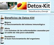 1 DETOX KIT  detoxifica el organismo, hecho en Alemania (Bacticure) Homeopathic