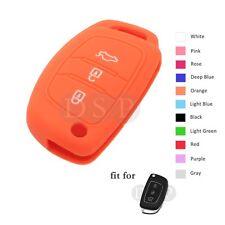 Silicone Cover Hollowed fit for HYUNDAI Santa Fe ix45 Smart Remote Key Fob 3B OR