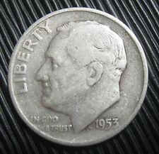 ETATS-UNIS , USA - ONE DIME 1953 D - ROOSEVELT - Argent
