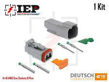 2 Pin Dt Connectors Set Deutsch 14 16 Awg Nickel Kit Male Female Gray Solid Te