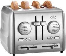 4 Fetta Larghi Slot Nero Utensili da Cucina in Acciaio INOX controllo di riscaldamento successivo SCONGELAMENTO BAGEL