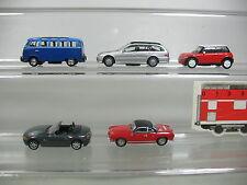 AJ381-0,5# 5x Schuco H0 modèle de voiture: BMW+Mini Cooper+Mercedes MB+Volkwagen