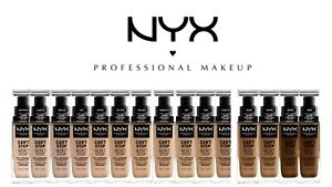 NYX CAN'T STOP WON'T STOP FULL COVERAGE VEGAN FOUNDATION 30ML BRAND NEW