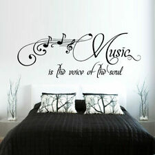 Wall Decal Sticker Music Note Inscription Letter Quote Voise Soul bedroom M375
