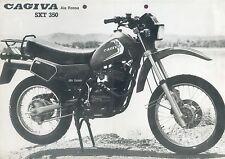 Cagiva SXT 350 Ala Rossa Prospekt 1982 brochure Broschüre Motorrad Italien Italy