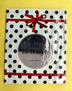 """Bas nylon voile """"Le Bourget"""" sans couture - 100% vintage - T 2 - Noir"""