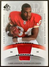 2003 SP Authentic #265 Larry Johnson 2 Color Patch True RC 151/850 Chiefs