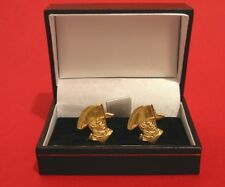 Napoleon Gold Plated Pewter Cufflinks Gift Boxed History Napoleonic Men's gift