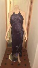 Scala : Silk Purple Dress : Ideal Bridesmaids/ cocktail / Prom Wear : Size M