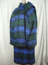 Rare BEN NEVIS SCOTLAND Vtg 60s Fuzzy Mohair Wool Cape & Skirt-Waist 24/2XS-XS