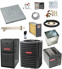 MOST COMPLETE SYSTEM 96% 2-Stage 100k btu Gas Furnace and 3-1/2 Ton 16 SEER AC