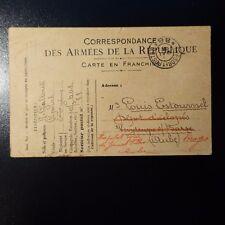 LETTRE COVER CAD TRESOR ET POSTES N°88 1916 -> TROYES AUBE
