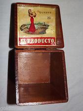 VINTAGE EL PRODUCTO QUEENS WOOD CIGAR BOX