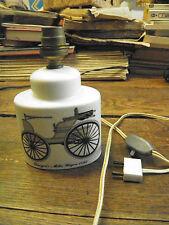 Lampe  Porcelaine de Paris ancienne  Durgen's Motor Wagon voiture