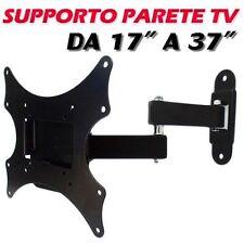 SUPPORTO TV BRACCIO PARETE 17 19 22 24 25 27 29 37 POLLICI LCD LED 3D PLASMA