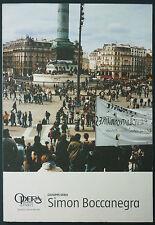 PROGRAMME OPERA PARIS - VERDI : SIMON BOCCANEGRA - 2005 - MELODRAMMA