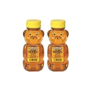 SweetGourmet Gunter's Pure Clover Honey Bears, 12oz - Pack of 2 - FREE SHIPPING!